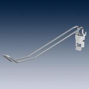 Крюк двойной с клеммой, наклонный, покрытие   глянцевый цинк Ø 4