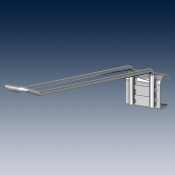 Крюк двойной на штангу покрытие хром Ø 4,8 mm