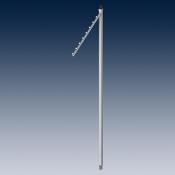 Консоль для стойки с шариками, регулируемая по высоте покрытие хром