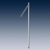 Консоль для стойки  с отверстиями, регулируемая по высоте покрытие хром