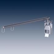 Ценникодержатель с клеммой на перфопанель, телескопический покрытие хром