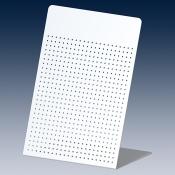 Настольный дисплей, перфорированный RAL 9006 светло-алюминиевый
