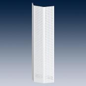 Дисплей перфорированный крепится к стене или к стойке стеллажа с помощью держателя RAL 9006 светло-алюминиевый