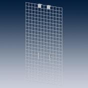 Навесная решётка, боковая для дисплея 180860 RAL 9010, белый