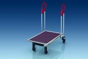 Транспортные тележки серии GD  покрытие глянцевый цинк с нано-частицами платформа деревянная.  GD2